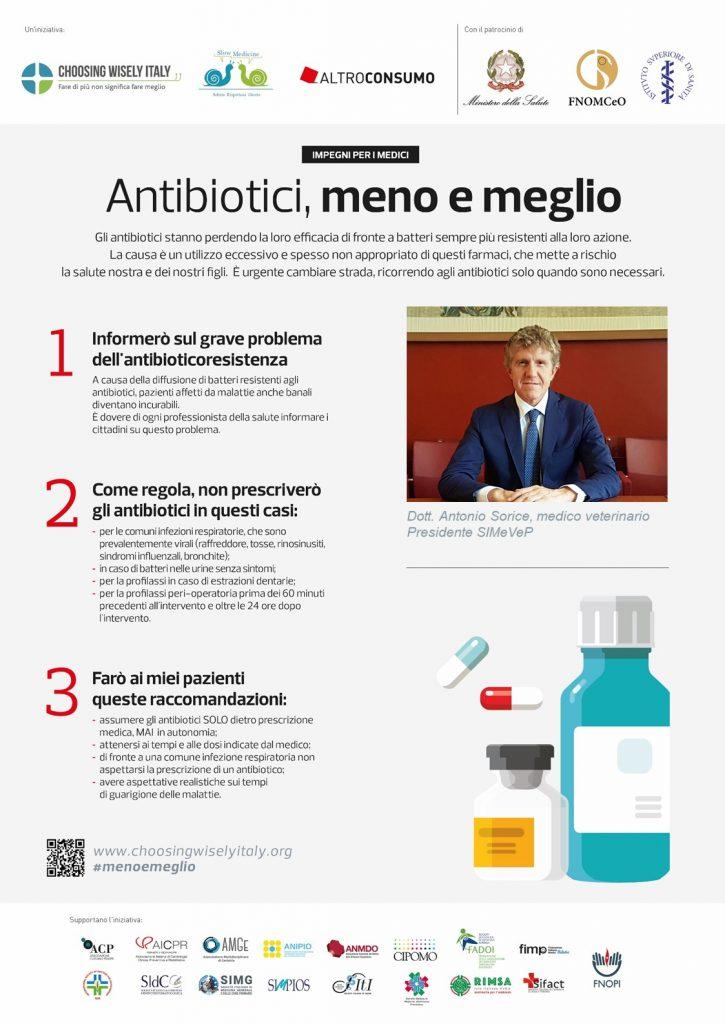 Antibiotici, meno e meglio